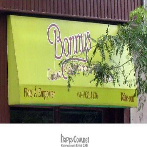 """Photo of Bonnys Vegetarian and Organic Cuisine  by <a href=""""/members/profile/kennyp353"""">kennyp353</a> <br/> July 31, 2008  - <a href='/contact/abuse/image/4761/893'>Report</a>"""