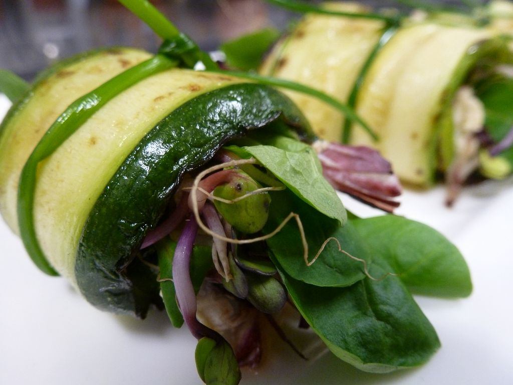 "Photo of Baratza Kafea  by <a href=""/members/profile/tina%20macrotina"">tina macrotina</a> <br/>Zucchini and watercress rolls <br/> August 9, 2015  - <a href='/contact/abuse/image/47622/112845'>Report</a>"