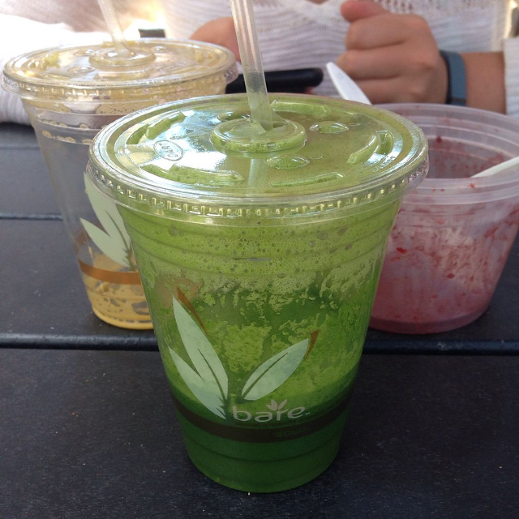 """Photo of Shore Juice  by <a href=""""/members/profile/Oliviaeats"""">Oliviaeats</a> <br/>green machine juice with demolished acai bowl and c citrus juice in background <br/> July 31, 2015  - <a href='/contact/abuse/image/47631/111702'>Report</a>"""