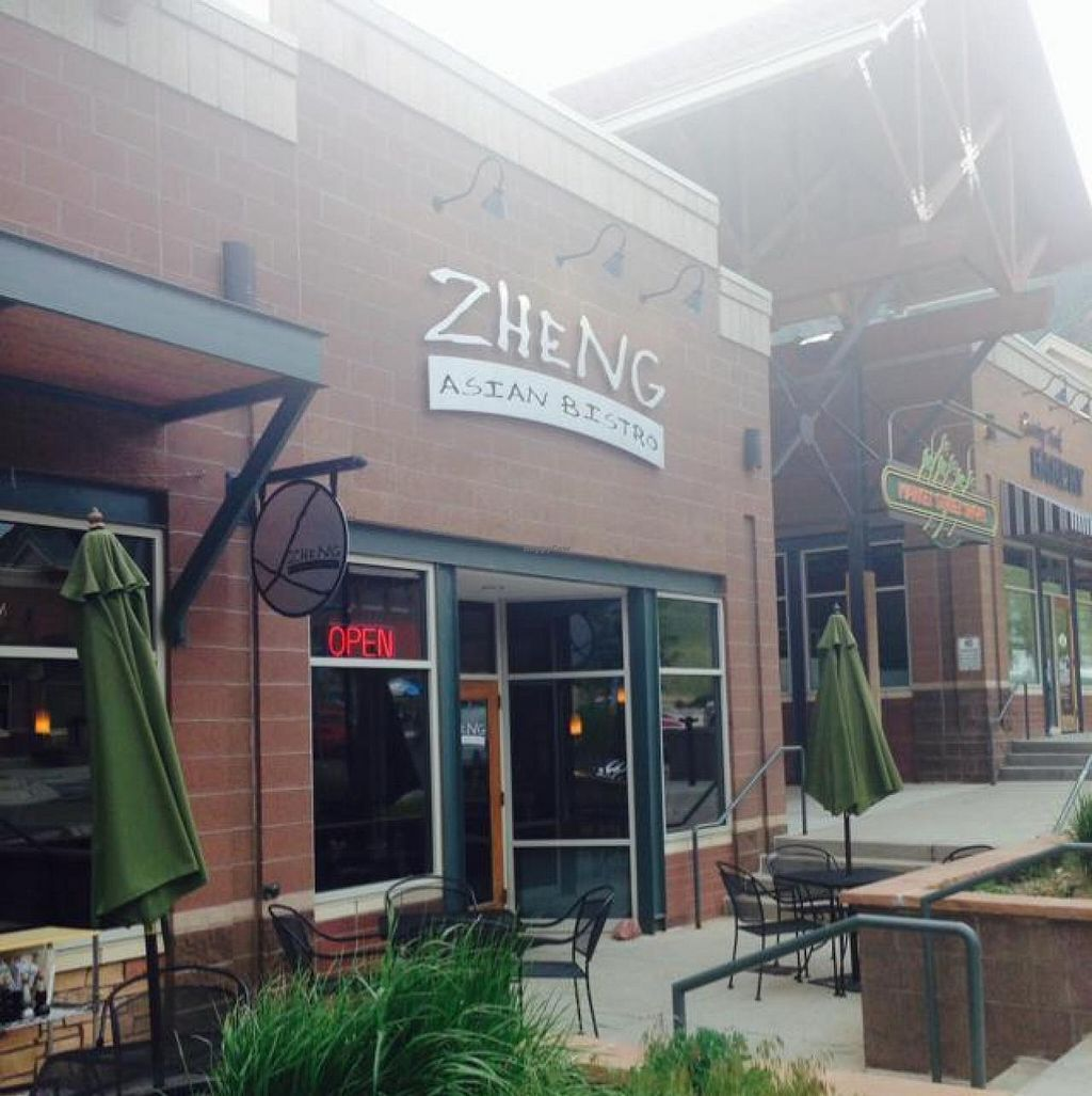 "Photo of Zheng Asian Bistro  by <a href=""/members/profile/HappyCowKeown"">HappyCowKeown</a> <br/>Front of restaurant  <br/> June 12, 2014  - <a href='/contact/abuse/image/47640/71908'>Report</a>"
