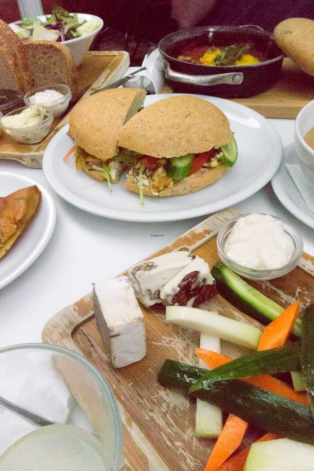 """Photo of Anastasia  by <a href=""""/members/profile/biancah"""">biancah</a> <br/>Tofu Scramble Sandwich, vegan Cheese Platter - so good! <br/> February 16, 2018  - <a href='/contact/abuse/image/47650/359962'>Report</a>"""