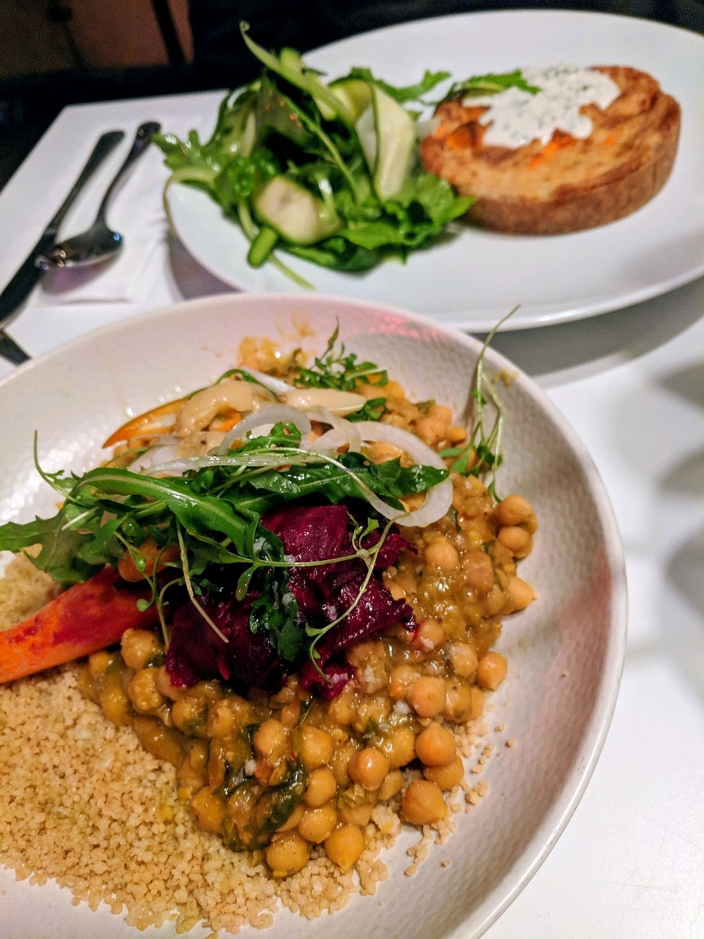 """Photo of Anastasia  by <a href=""""/members/profile/NJ220"""">NJ220</a> <br/>Chickpea and squash stew and the Sweet potato quiche. Both very nice! <br/> February 28, 2018  - <a href='/contact/abuse/image/47650/364731'>Report</a>"""