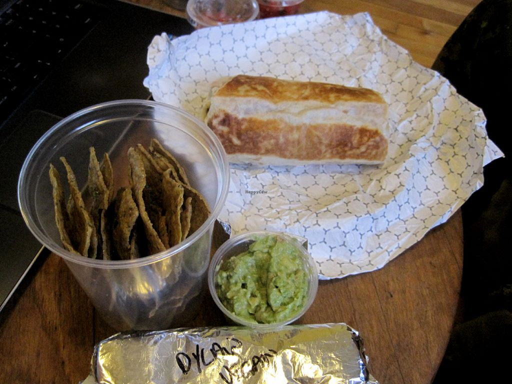 "Photo of CLOSED: Velo Burrito  by <a href=""/members/profile/Babette"">Babette</a> <br/>Burrito fiesta with chips and guacamole <br/> July 28, 2015  - <a href='/contact/abuse/image/47694/111329'>Report</a>"