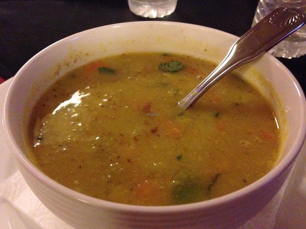 "Photo of Purnima Bangladeshi Cuisine  by <a href=""/members/profile/calamaestra"">calamaestra</a> <br/>Mulligatawny soup <br/> September 16, 2014  - <a href='/contact/abuse/image/47724/80063'>Report</a>"