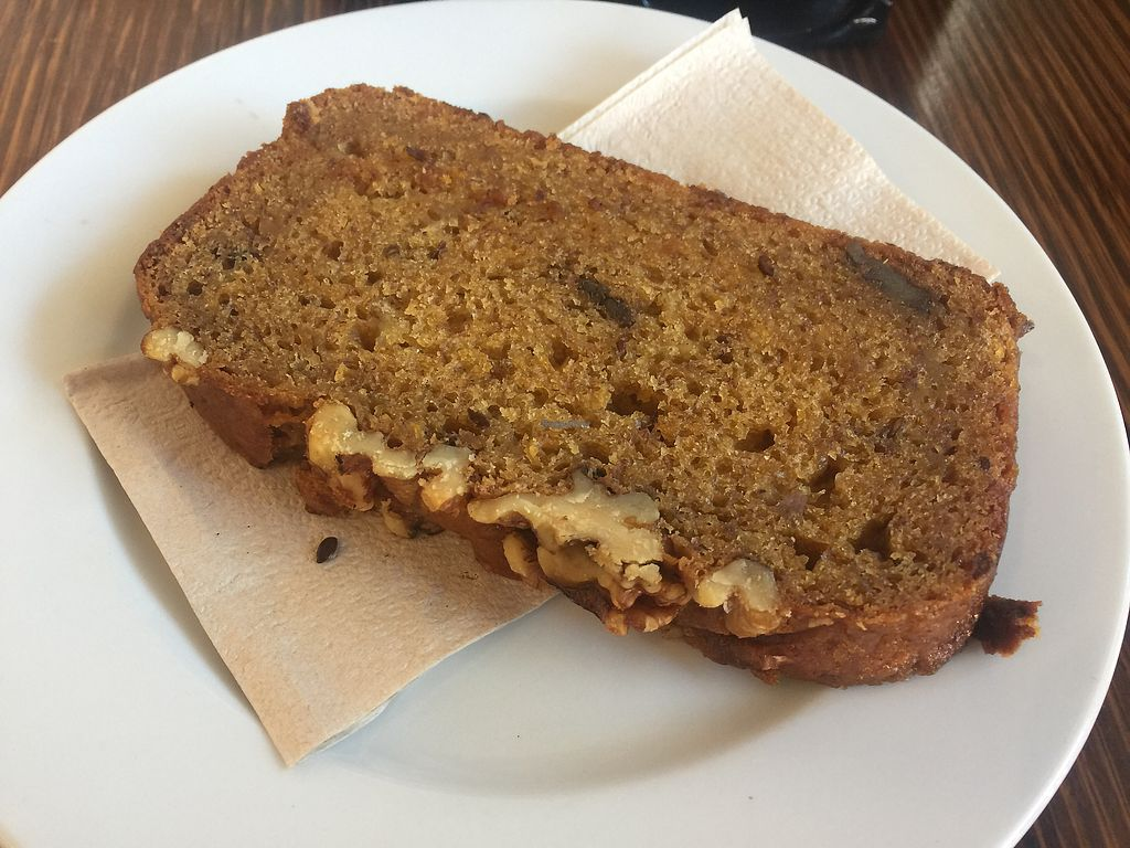 """Photo of Dad and Dave's Cafe  by <a href=""""/members/profile/Tiggy"""">Tiggy</a> <br/>Vegan banana bread- unfortunately microwaved rather than toasted <br/> October 28, 2017  - <a href='/contact/abuse/image/47747/319660'>Report</a>"""