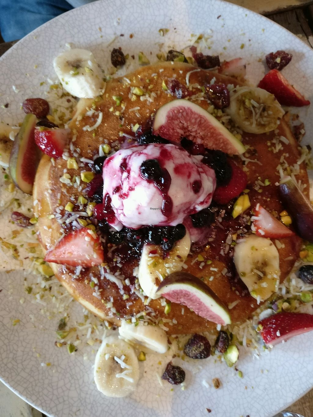 """Photo of Dad and Dave's Cafe  by <a href=""""/members/profile/Aloo"""">Aloo</a> <br/>vegan pancakes <br/> March 16, 2018  - <a href='/contact/abuse/image/47747/371524'>Report</a>"""