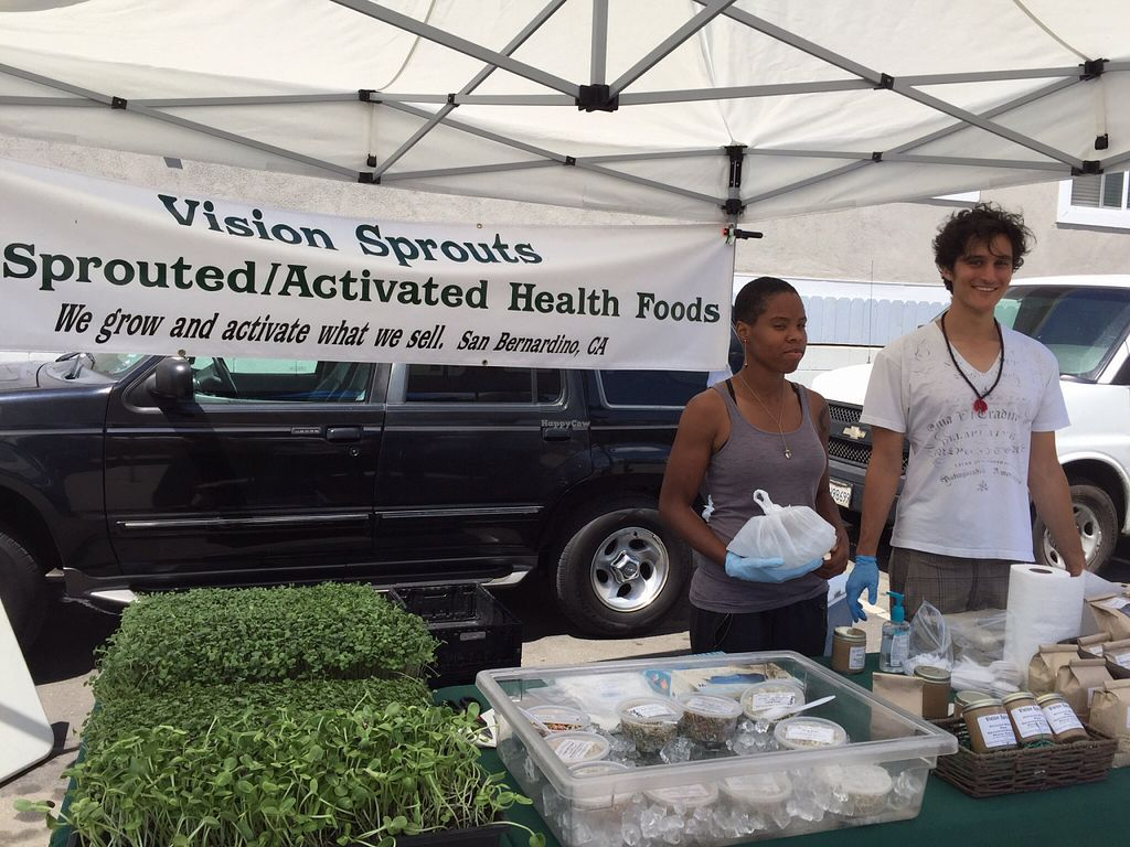 "Photo of Farmer's Market  by <a href=""/members/profile/m.rose"">m.rose</a> <br/>Visions Sprouts <br/> August 7, 2015  - <a href='/contact/abuse/image/4779/112649'>Report</a>"