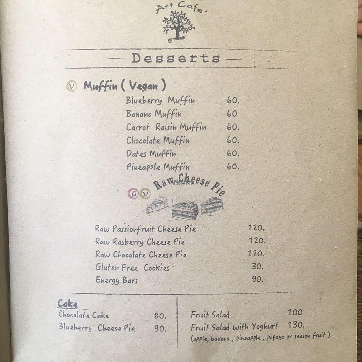 "Photo of June's Art Cafe  by <a href=""/members/profile/Abdulaziz"">Abdulaziz</a> <br/>desserts menu <br/> September 15, 2016  - <a href='/contact/abuse/image/47805/176000'>Report</a>"