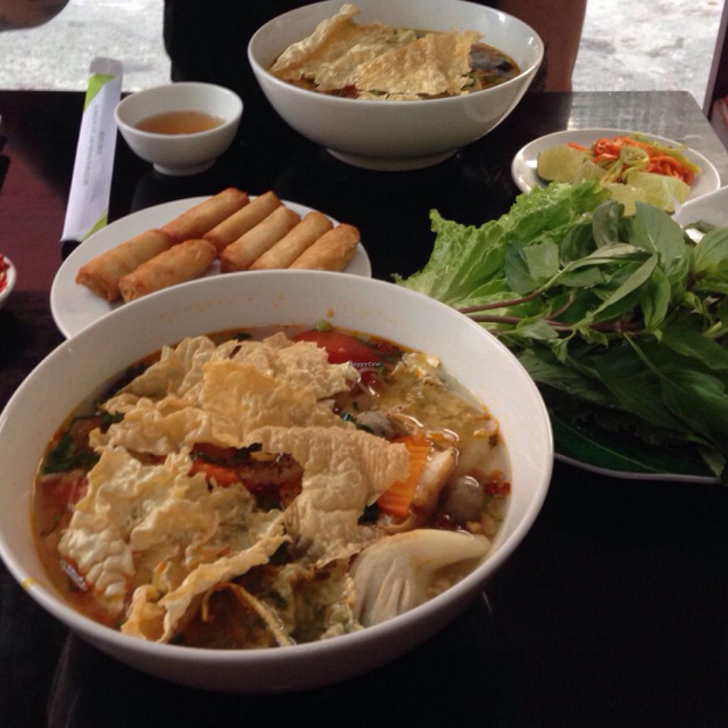 "Photo of Dieu Phap Chay  by <a href=""/members/profile/JohannaKnutsson"">JohannaKnutsson</a> <br/>noodle soup and spring rolls <br/> January 12, 2015  - <a href='/contact/abuse/image/47833/90179'>Report</a>"