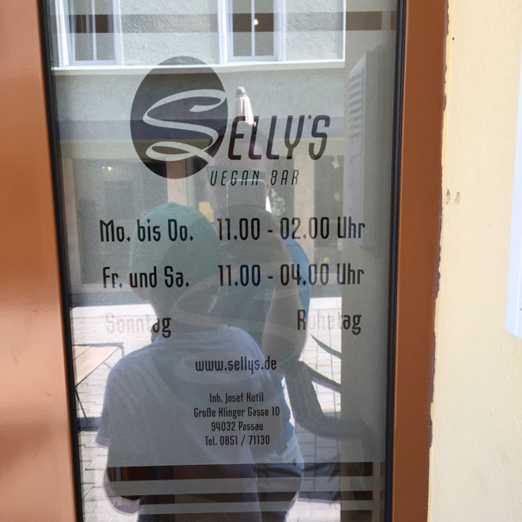 """Photo of CLOSED: Selly's Vegan Bar  by <a href=""""/members/profile/RedbUlrich"""">RedbUlrich</a> <br/>Opening Times <br/> August 13, 2015  - <a href='/contact/abuse/image/47834/113500'>Report</a>"""