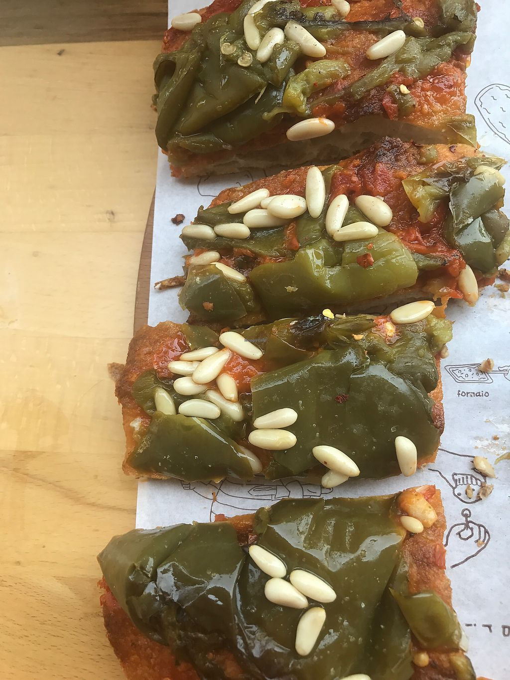 "Photo of Pizzarium Bonci Gabriele  by <a href=""/members/profile/NatalieJadeW"">NatalieJadeW</a> <br/>Roasted peppers & pine nuts - delicious! <br/> June 27, 2017  - <a href='/contact/abuse/image/47845/274042'>Report</a>"