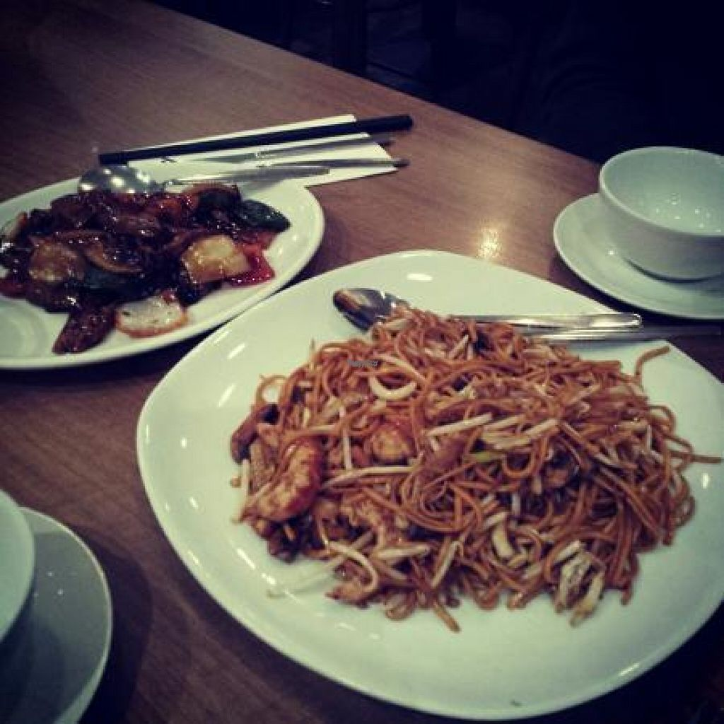 """Photo of Rumours Kopitiam  by <a href=""""/members/profile/Meaks"""">Meaks</a> <br/>Vegan starter and main <br/> August 1, 2016  - <a href='/contact/abuse/image/47872/164071'>Report</a>"""
