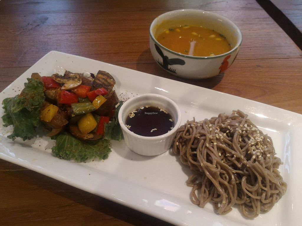 "Photo of OVOCafe - Wan Chai Rd  by <a href=""/members/profile/ouikouik"">ouikouik</a> <br/>hkd68 lunch set (mixed veg soba and coconut pumpkin soup) <br/> August 24, 2015  - <a href='/contact/abuse/image/47890/115022'>Report</a>"