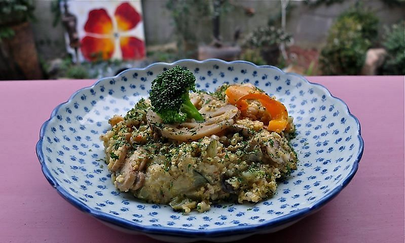 """Photo of Jack and the Beanstalk  by <a href=""""/members/profile/annakim"""">annakim</a> <br/>Vegan mushroom Risotto <br/> January 18, 2018  - <a href='/contact/abuse/image/47910/347908'>Report</a>"""