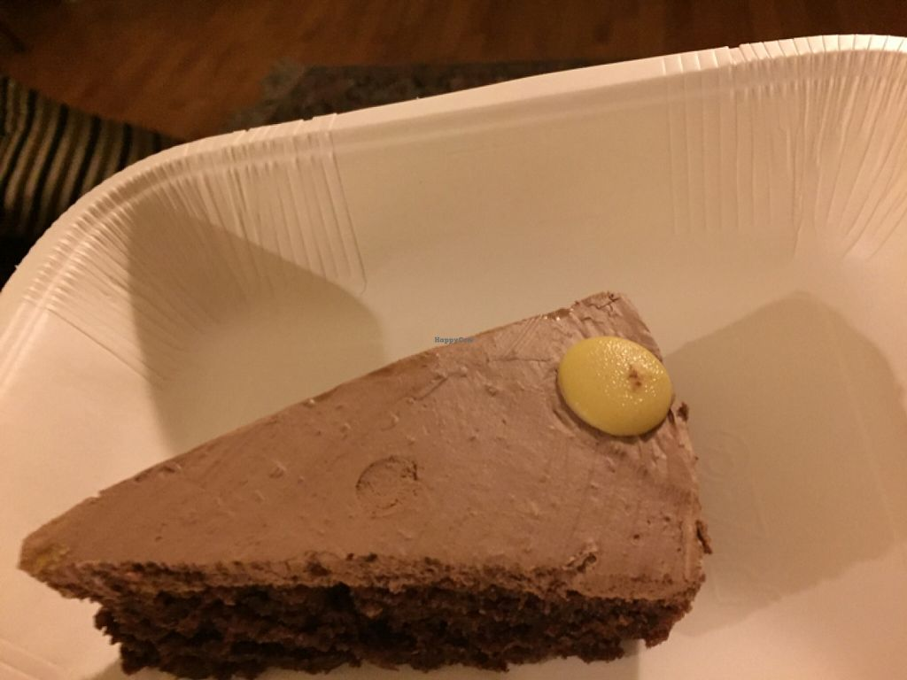 """Photo of Alhambra Cafe  by <a href=""""/members/profile/Kittybiscuit"""">Kittybiscuit</a> <br/>triple chocolate cake <br/> December 28, 2015  - <a href='/contact/abuse/image/47914/130145'>Report</a>"""
