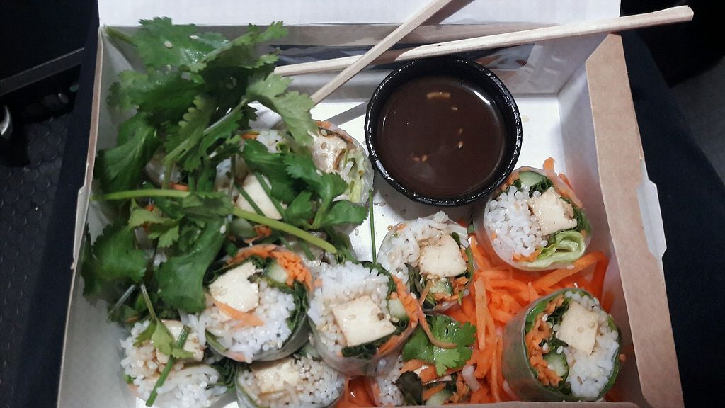 """Photo of Nois Cafe and Deli  by <a href=""""/members/profile/piffelina"""">piffelina</a> <br/>Summer rolls <br/> April 21, 2018  - <a href='/contact/abuse/image/47918/389161'>Report</a>"""