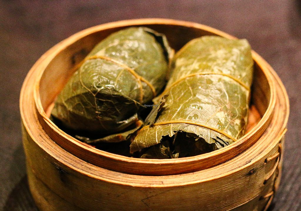"""Photo of CLOSED: Ping Pong Dim Sum  by <a href=""""/members/profile/myvegandubai"""">myvegandubai</a> <br/>Vegetable Sticky Rice in Lotus Leaf at Ping Pong Dim Sum <br/> July 5, 2016  - <a href='/contact/abuse/image/47927/157921'>Report</a>"""