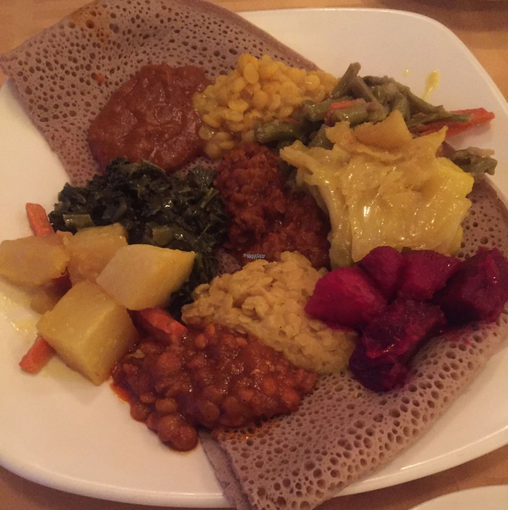 """Photo of Hawwi Ethiopian  by <a href=""""/members/profile/GMUGrad2002"""">GMUGrad2002</a> <br/>Vegan Sampler <br/> February 4, 2017  - <a href='/contact/abuse/image/47930/222524'>Report</a>"""