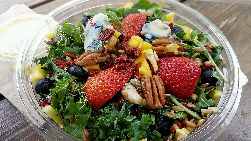 """Photo of CLOSED: LifeFood Organic  by <a href=""""/members/profile/eric"""">eric</a> <br/>kale salad with aged nut cheese <br/> February 27, 2018  - <a href='/contact/abuse/image/47936/364642'>Report</a>"""