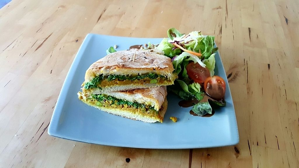 Photo of RGB and The Bean Hive  by Raphael_Dane <br/>Vegan Hummus and Roast Veggies Panini  <br/> January 4, 2017  - <a href='/contact/abuse/image/47954/207904'>Report</a>