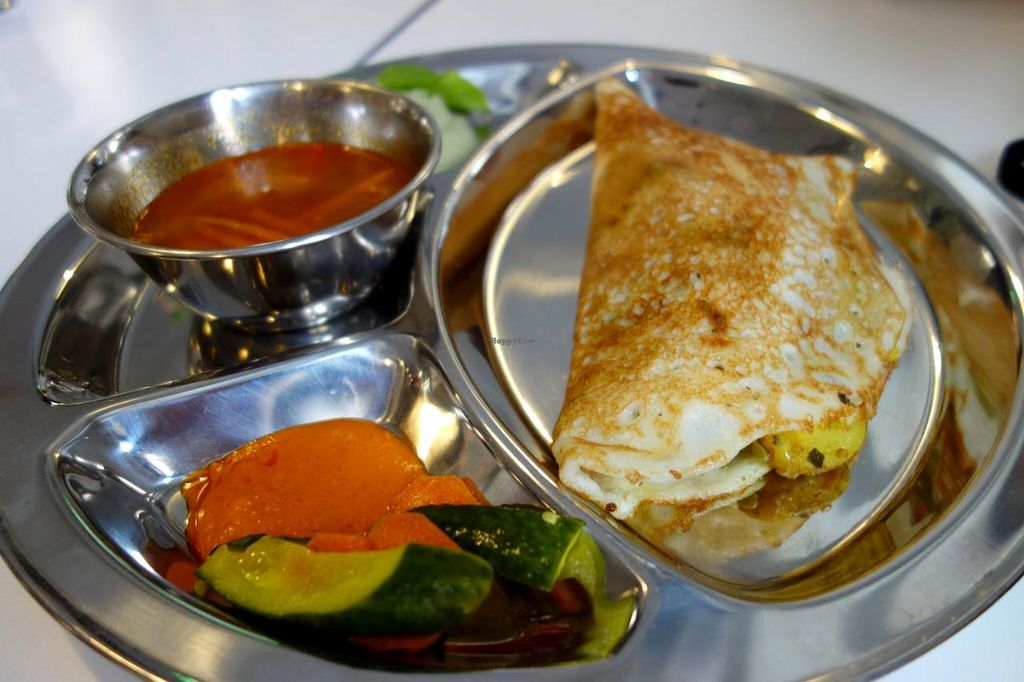 """Photo of OmNam  by <a href=""""/members/profile/Gudrun"""">Gudrun</a> <br/>Vegan dosa! <br/> August 10, 2014  - <a href='/contact/abuse/image/47960/76434'>Report</a>"""
