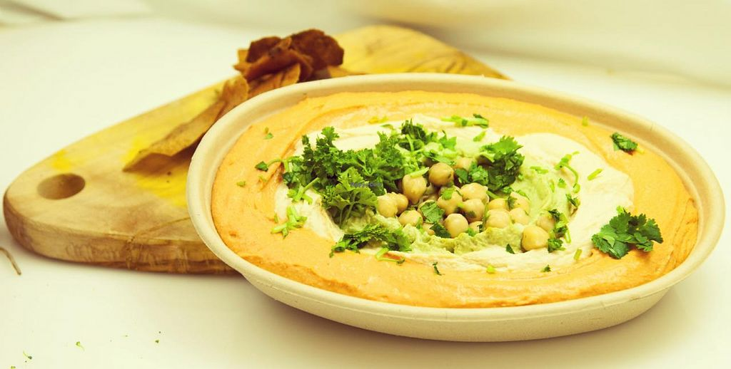 "Photo of Hummus Republic  by <a href=""/members/profile/HummusRepublic"">HummusRepublic</a> <br/>Roasted peppers and original Hummus <br/> June 20, 2014  - <a href='/contact/abuse/image/47989/72405'>Report</a>"