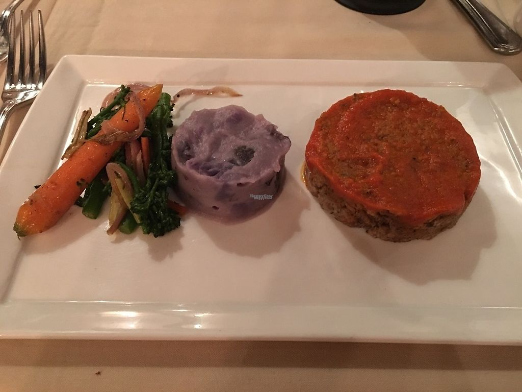 """Photo of Cedar Restaurant  by <a href=""""/members/profile/kmilitello"""">kmilitello</a> <br/>Vegan meatloaf, smashed potatoes, and assorted veg <br/> February 21, 2017  - <a href='/contact/abuse/image/47991/228841'>Report</a>"""