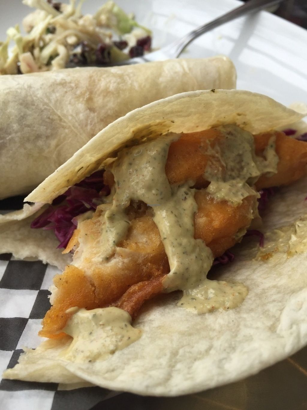 """Photo of Yam Chops  by <a href=""""/members/profile/StevieSurf"""">StevieSurf</a> <br/>Fishless Tacos - yum! <br/> July 12, 2016  - <a href='/contact/abuse/image/48004/159315'>Report</a>"""