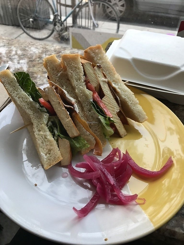"Photo of Bloomer's  by <a href=""/members/profile/Drhannahj"">Drhannahj</a> <br/>Tofu Club Sandwich <br/> September 8, 2017  - <a href='/contact/abuse/image/48010/301921'>Report</a>"