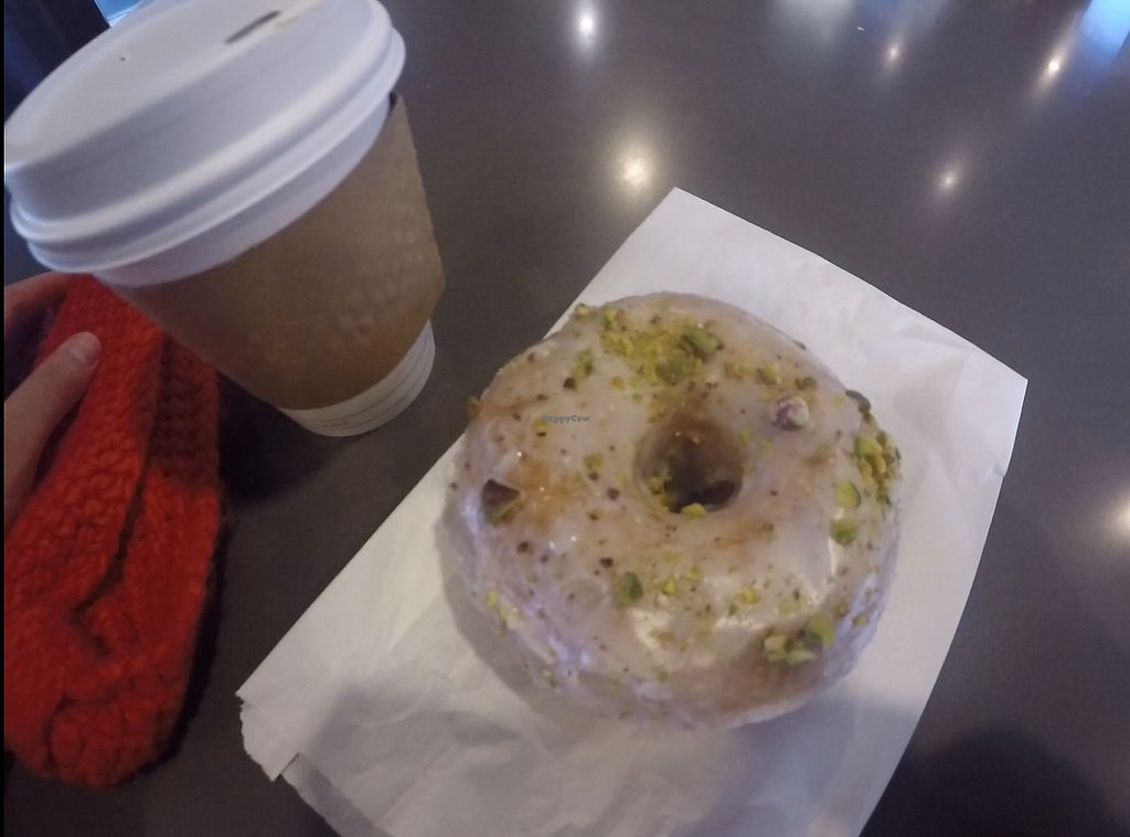 "Photo of Bloomer's  by <a href=""/members/profile/Sharkademus"">Sharkademus</a> <br/>Cafe latte and pistachio rose donut, together for C$7.90,-