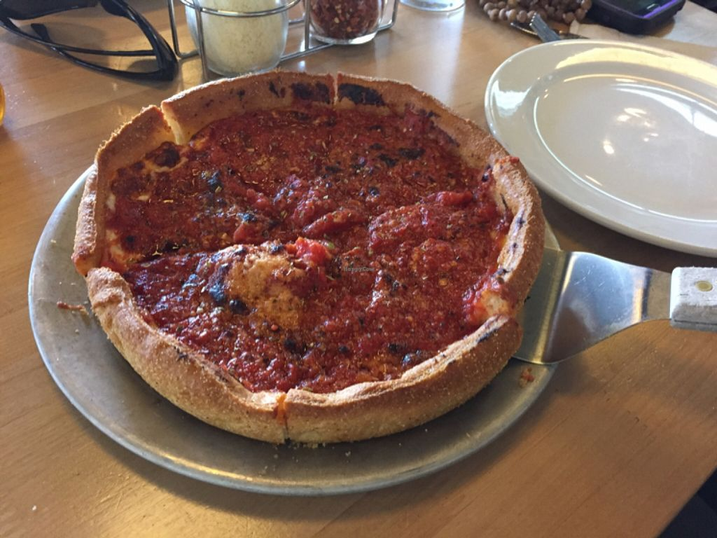 """Photo of Blue Line Pizza  by <a href=""""/members/profile/H"""">H</a> <br/>small cheese deep dish  <br/> November 14, 2015  - <a href='/contact/abuse/image/48017/124967'>Report</a>"""