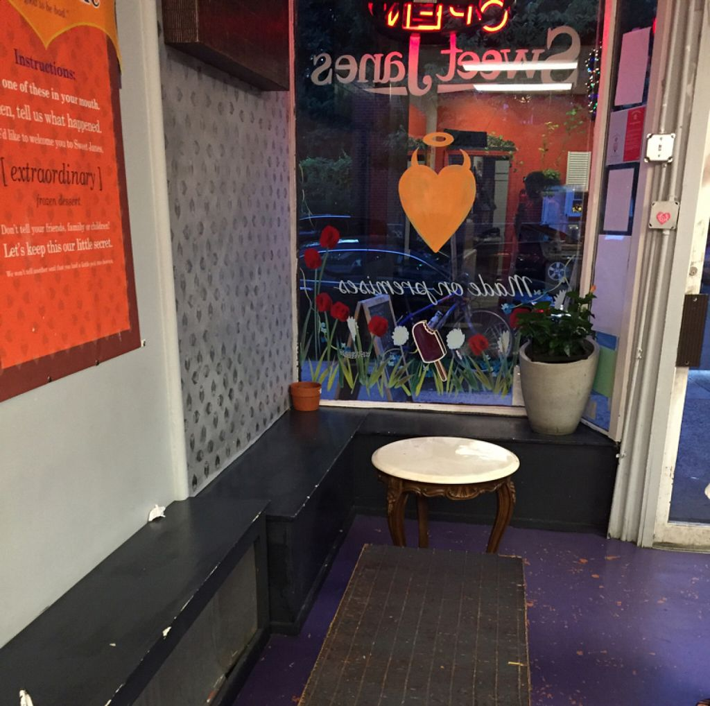 """Photo of CLOSED: Sweet Jane's Frozen Desserts  by <a href=""""/members/profile/Nachrisco"""">Nachrisco</a> <br/>Seating Inside <br/> August 8, 2016  - <a href='/contact/abuse/image/48034/166734'>Report</a>"""