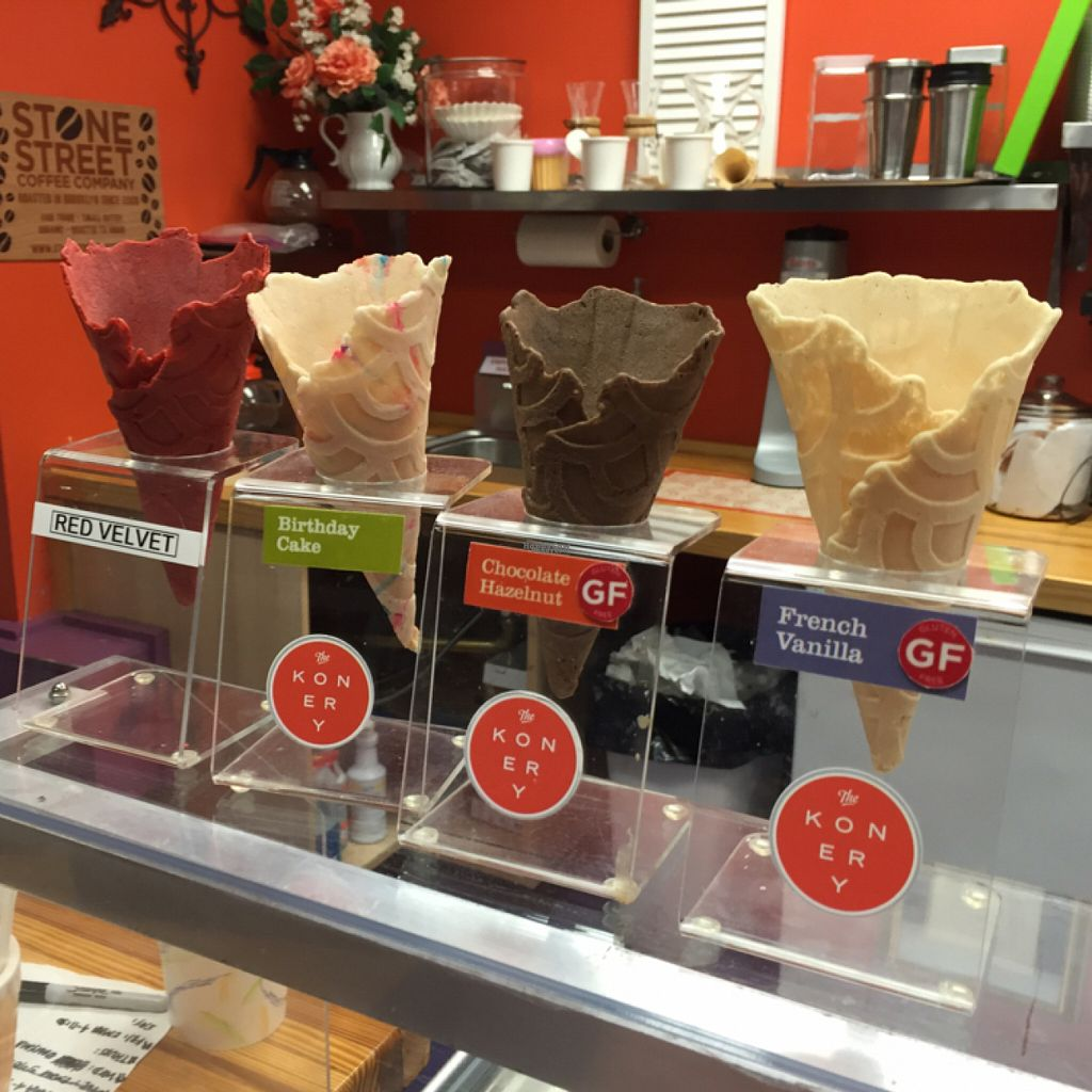 """Photo of CLOSED: Sweet Jane's Frozen Desserts  by <a href=""""/members/profile/Nachrisco"""">Nachrisco</a> <br/>Cones!! <br/> August 8, 2016  - <a href='/contact/abuse/image/48034/166736'>Report</a>"""