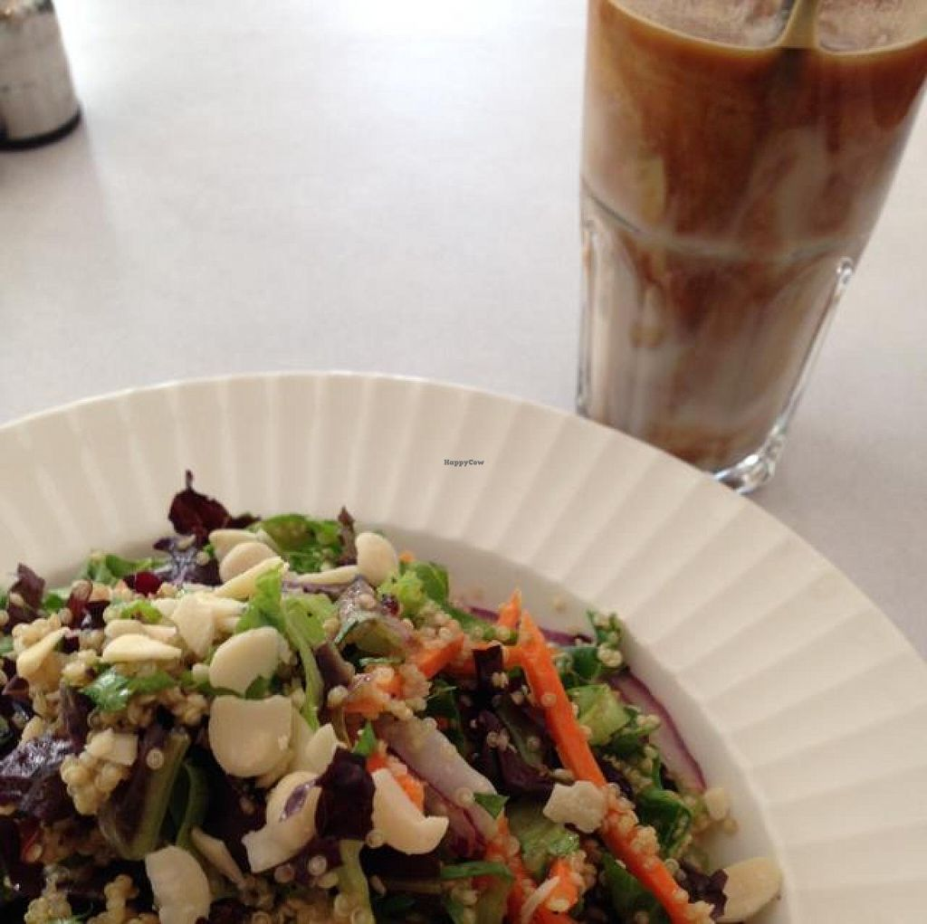 "Photo of CLOSED: Cafe Nini  by <a href=""/members/profile/Brok%20O.%20Lee"">Brok O. Lee</a> <br/>Vegan Curly Salad and Vegan Ice Coffee with Nut Milk <br/> July 5, 2014  - <a href='/contact/abuse/image/48042/73246'>Report</a>"