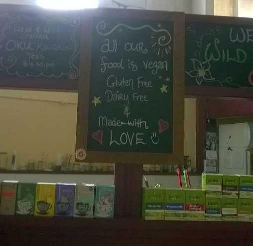 """Photo of Wild Earth Organics Cafe and Store  by <a href=""""/members/profile/Yolanda"""">Yolanda</a> <br/>Menu board <br/> March 20, 2015  - <a href='/contact/abuse/image/48059/96313'>Report</a>"""