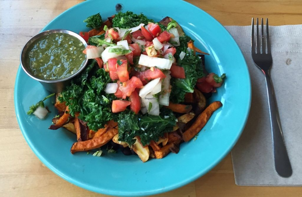 """Photo of Laughing Planet Cafe  by <a href=""""/members/profile/gr8fulvegan"""">gr8fulvegan</a> <br/>The Cuban Bowl with added sautéed kale <br/> January 3, 2016  - <a href='/contact/abuse/image/48064/207667'>Report</a>"""