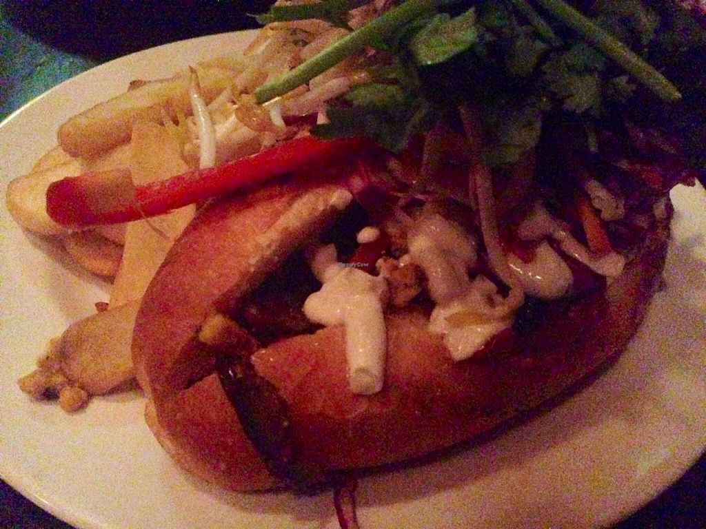 "Photo of The Fox Hotel  by <a href=""/members/profile/Tiggy"">Tiggy</a> <br/>Pulled tempeh roll (vegan) - December 2014 <br/> December 14, 2014  - <a href='/contact/abuse/image/48066/87922'>Report</a>"