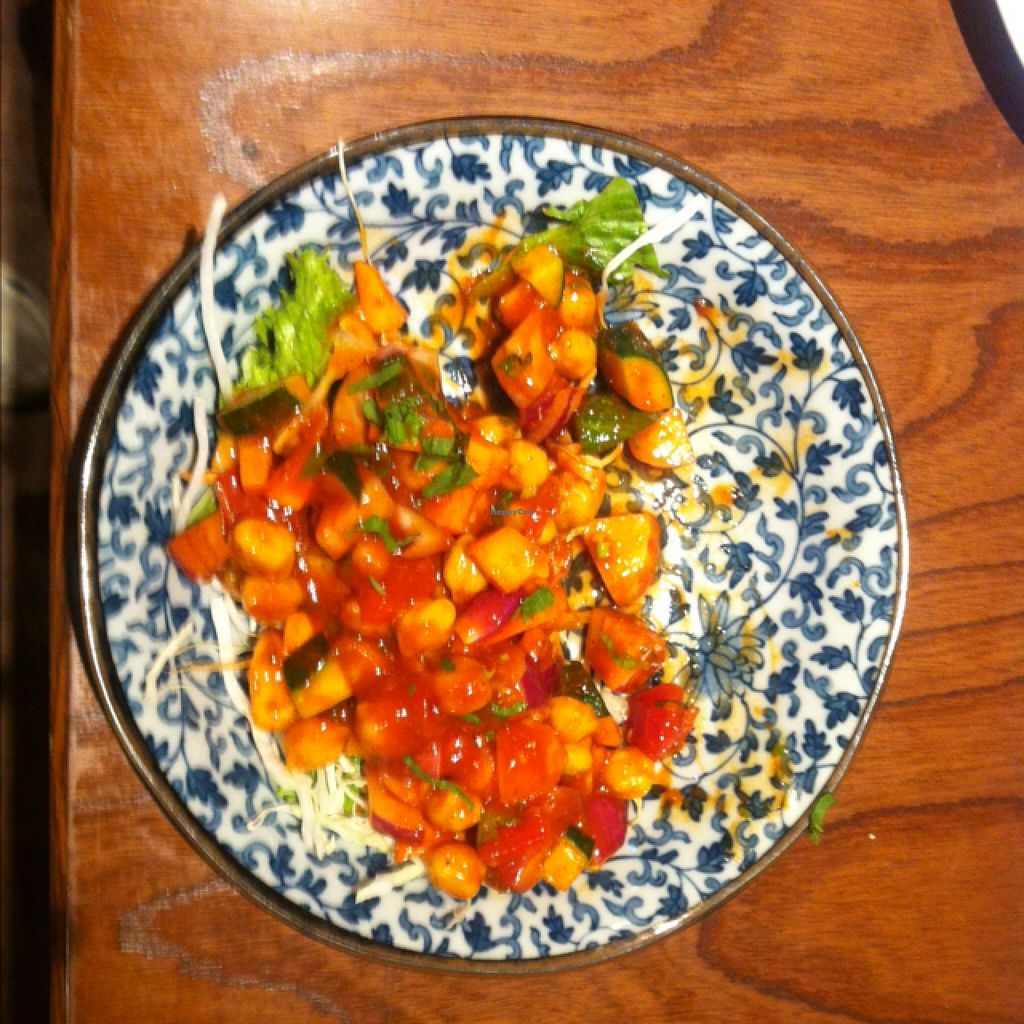 """Photo of Veg Kitchen  by <a href=""""/members/profile/Veg%20Kitchen"""">Veg Kitchen</a> <br/>aloo chana chaat <br/> September 13, 2015  - <a href='/contact/abuse/image/48092/117543'>Report</a>"""