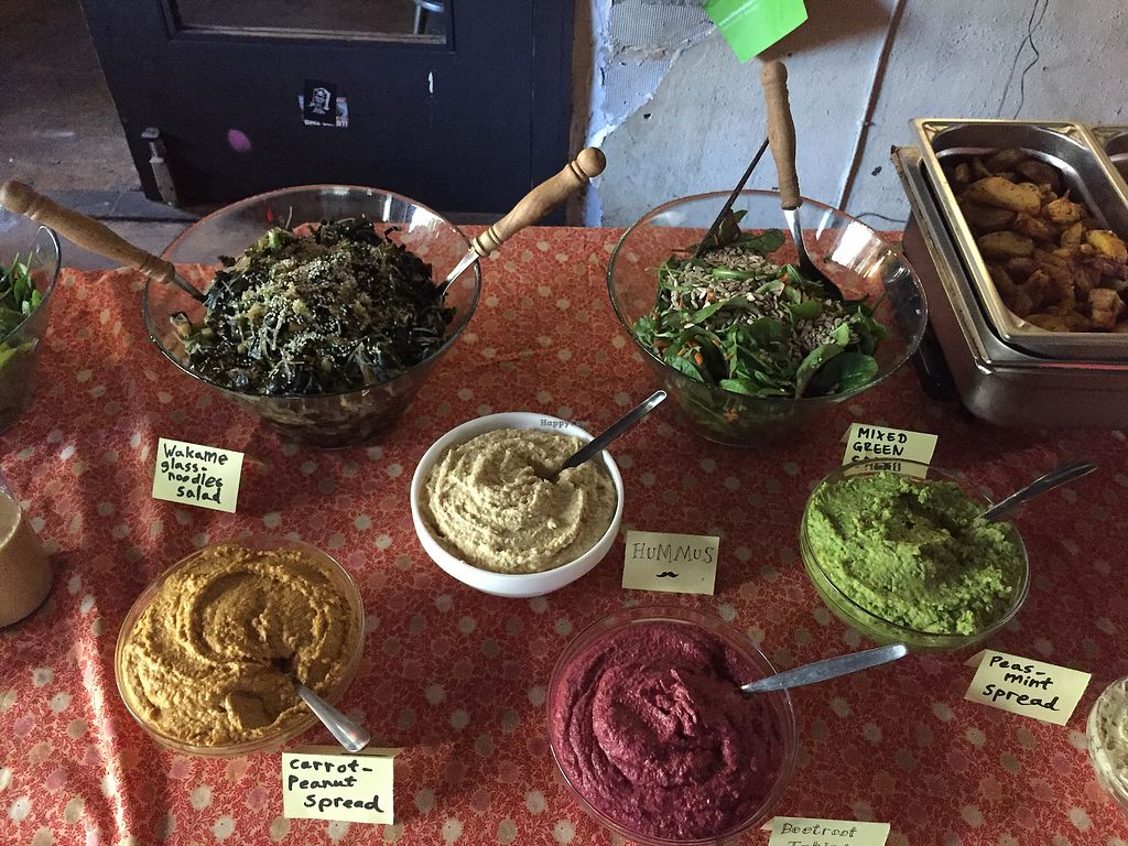 """Photo of B-Lage  by <a href=""""/members/profile/barnane"""">barnane</a> <br/>Salads and spreads at the brunch <br/> October 24, 2017  - <a href='/contact/abuse/image/48098/318200'>Report</a>"""