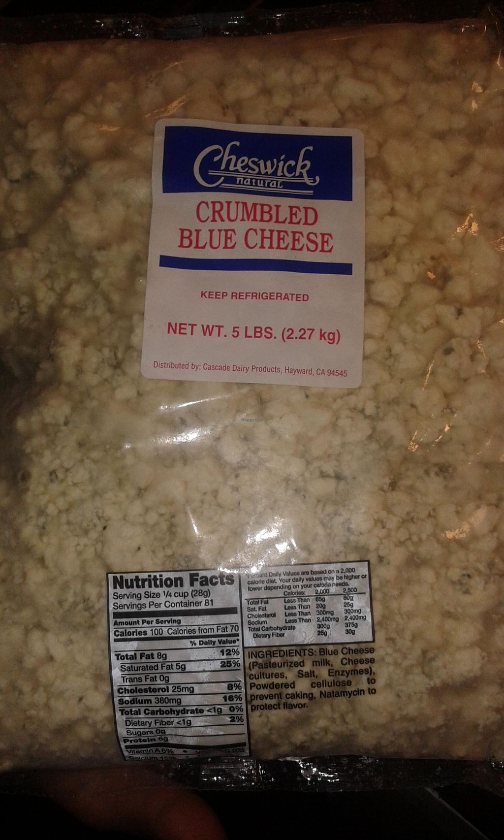 "Photo of Tallore Soups  by <a href=""/members/profile/Stevie"">Stevie</a> <br/>This is the cheese they use as at 9 Jan 2016. Frank serving insists they specify to their supplier the cheese is lacto vegetarian <br/> January 8, 2016  - <a href='/contact/abuse/image/48107/131554'>Report</a>"