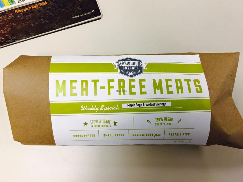 """Photo of The Herbivorous Butcher  by <a href=""""/members/profile/fitmetalvegan2013"""">fitmetalvegan2013</a> <br/>Maple Sage Breakfast Sausage <br/> August 3, 2015  - <a href='/contact/abuse/image/48170/112102'>Report</a>"""