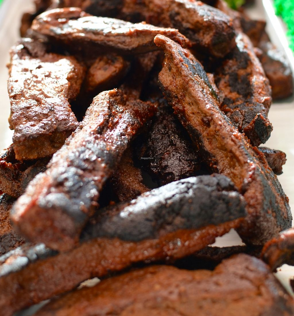 """Photo of The Herbivorous Butcher  by <a href=""""/members/profile/ryanstrandjord"""">ryanstrandjord</a> <br/>Smoky House BBQ Ribs - BBQ Ribs that will fool your dad. Smoked over hickory chips, braised, and then baked in our own BBQ sauce, Smoky House Ribs get all the slow-cooked attention they deserve. A delicate blend of smoky, tangy, and sweet flavors com <br/> February 14, 2016  - <a href='/contact/abuse/image/48170/206233'>Report</a>"""