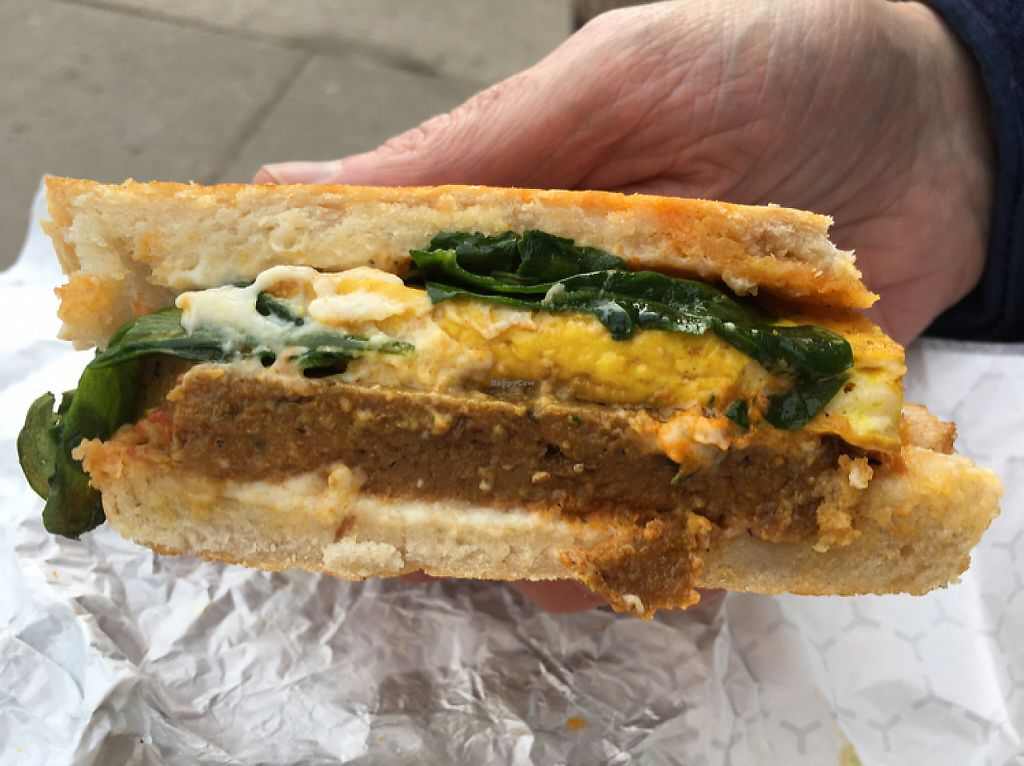 """Photo of The Herbivorous Butcher  by <a href=""""/members/profile/Mishallison"""">Mishallison</a> <br/>Breakfast sandwich extraordinaire  <br/> May 2, 2017  - <a href='/contact/abuse/image/48170/255008'>Report</a>"""