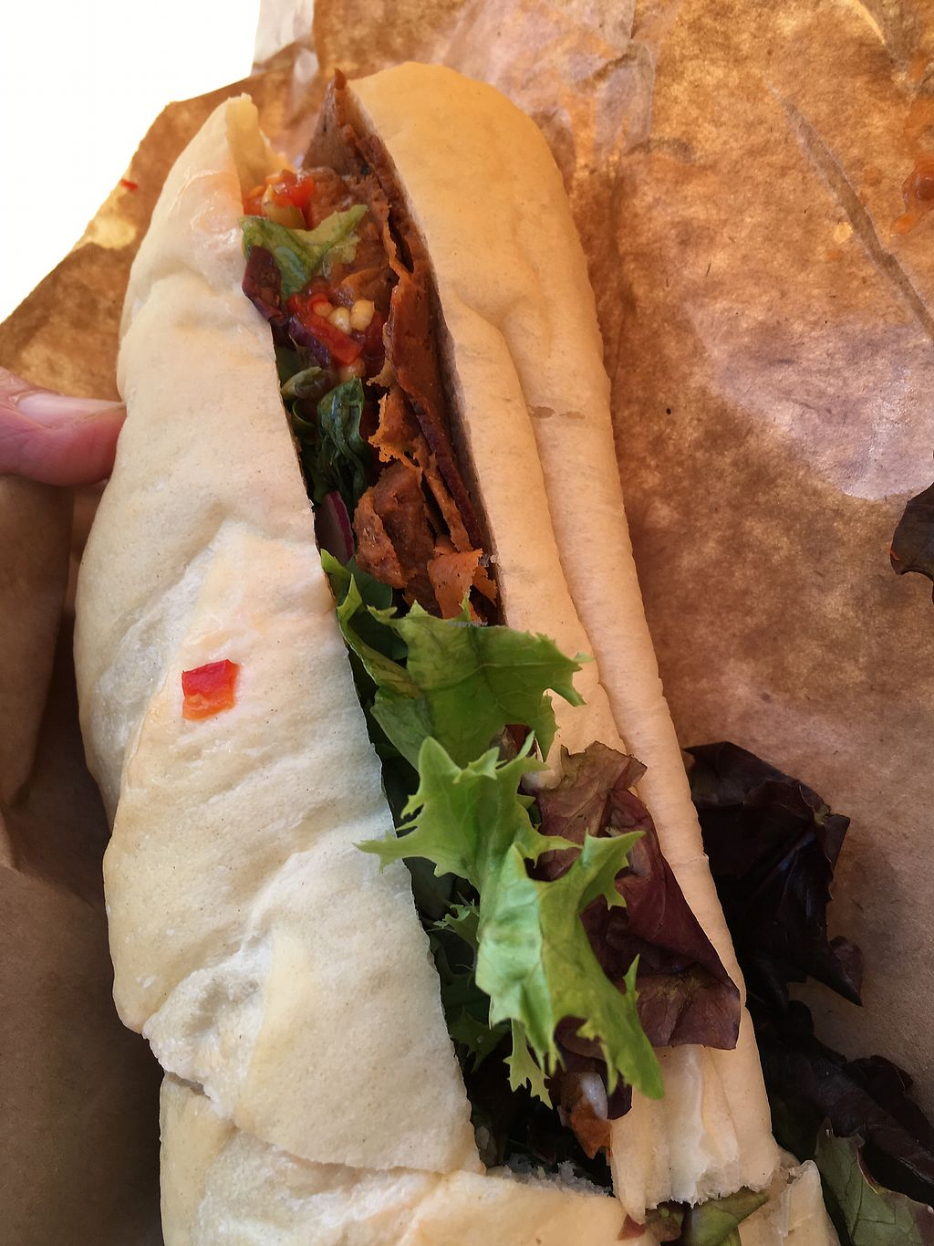 """Photo of The Herbivorous Butcher  by <a href=""""/members/profile/Veg4Jay"""">Veg4Jay</a> <br/>Italian Cold Cut Sandwich-half <br/> July 22, 2017  - <a href='/contact/abuse/image/48170/283357'>Report</a>"""