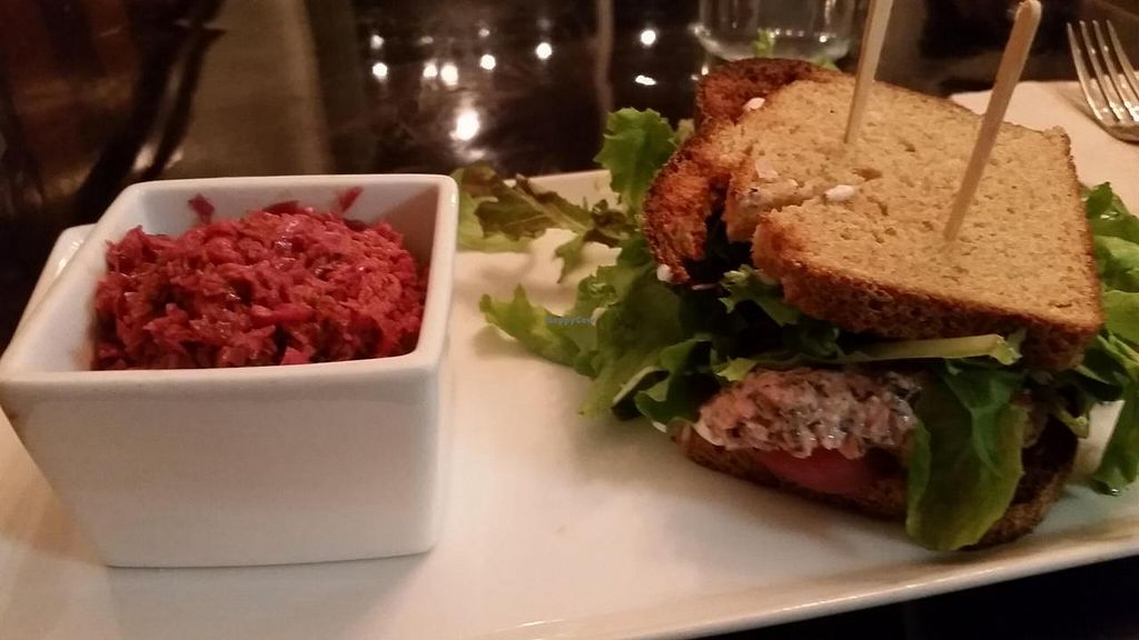 """Photo of Powerplant Superfood Cafe  by <a href=""""/members/profile/kenvegan"""">kenvegan</a> <br/>Good Karma 'Tuna' Sandwich <br/> November 24, 2014  - <a href='/contact/abuse/image/48173/86399'>Report</a>"""