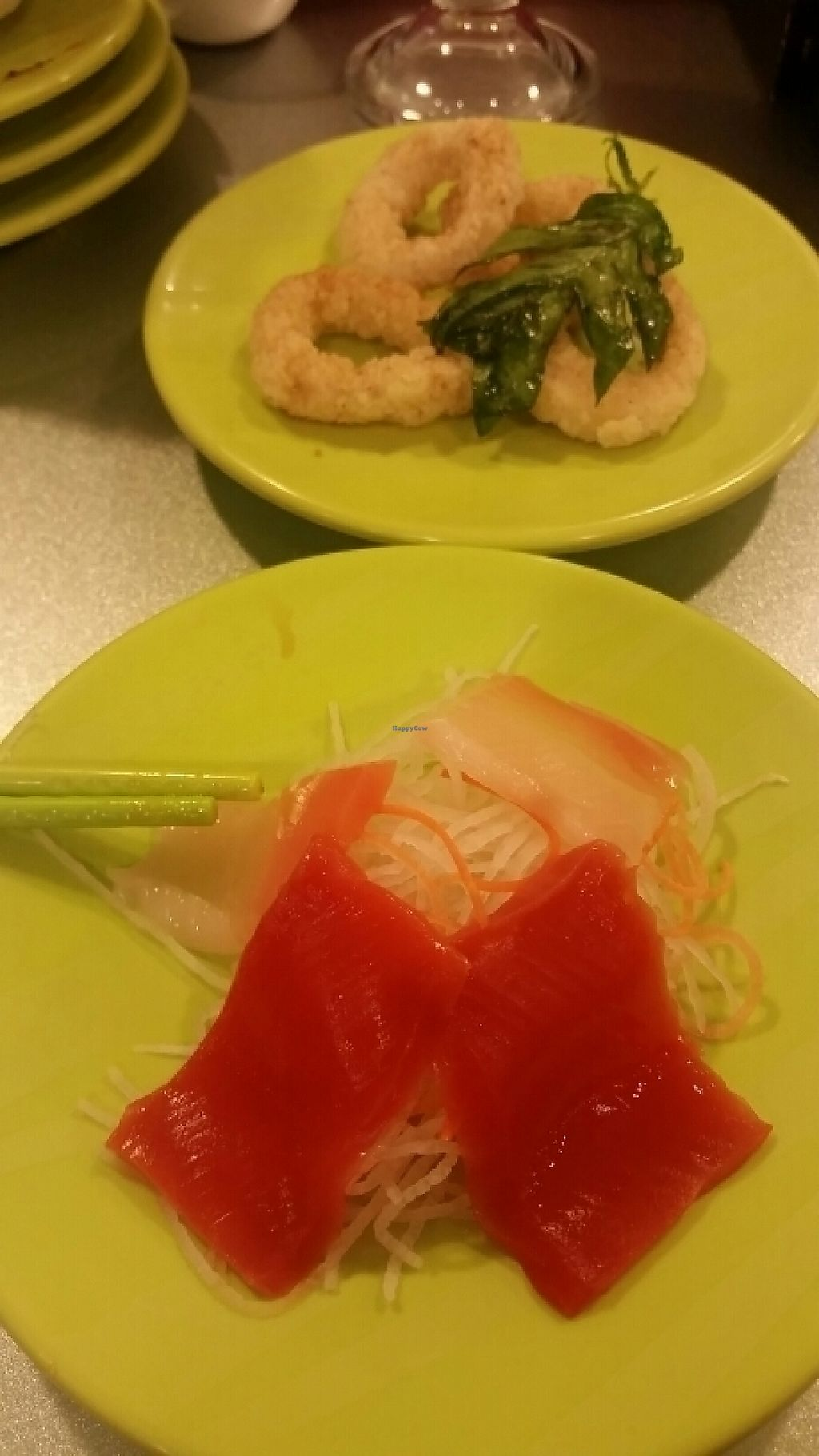 """Photo of Shuiwen  by <a href=""""/members/profile/unabashed"""">unabashed</a> <br/>Vegan sushi and calamari <br/> May 15, 2017  - <a href='/contact/abuse/image/48182/259132'>Report</a>"""