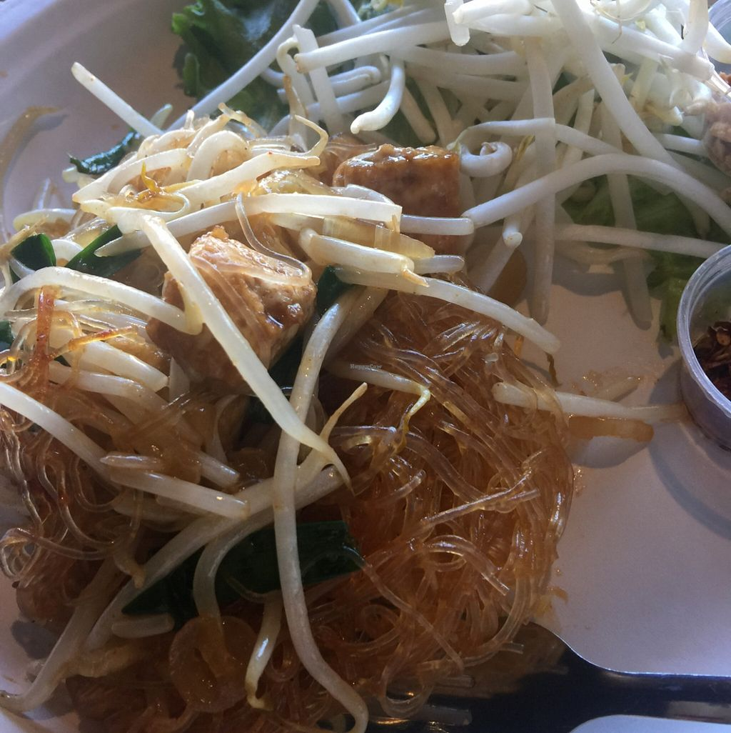 """Photo of CLOSED: Happy Elephant Vegan  by <a href=""""/members/profile/ReneeNButtercup"""">ReneeNButtercup</a> <br/>Pad Thai with Glass Noodles <br/> March 7, 2016  - <a href='/contact/abuse/image/48191/139109'>Report</a>"""