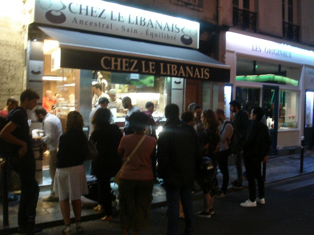 """Photo of Chez Le Libanais  by <a href=""""/members/profile/nafanc"""">nafanc</a> <br/>The hungry masses.  This is a popular place! But don't be put off by the crowd - the service is fast, fresh, and friendly <br/> July 14, 2017  - <a href='/contact/abuse/image/48195/280136'>Report</a>"""