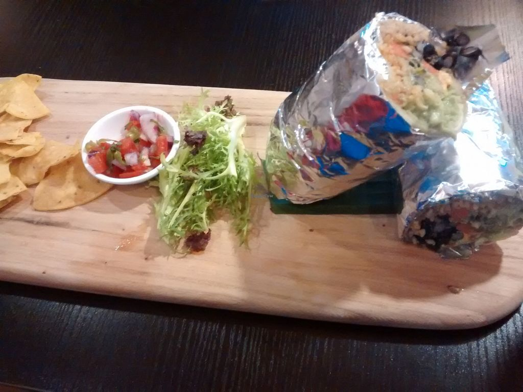 """Photo of Sand Pebbles Lounge  by <a href=""""/members/profile/Citizen%20Wren"""">Citizen Wren</a> <br/>giant vegan burrito  <br/> October 8, 2015  - <a href='/contact/abuse/image/48212/120626'>Report</a>"""