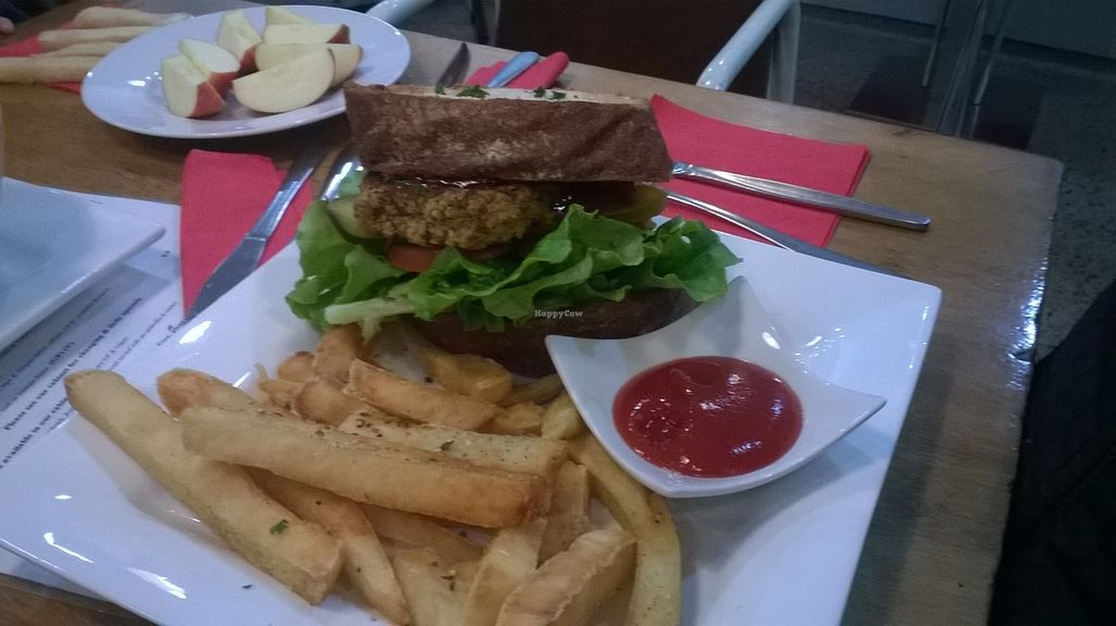 "Photo of Reality Bites Cafe  by <a href=""/members/profile/Yolanda"">Yolanda</a> <br/>vegan burger and fries <br/> November 6, 2015  - <a href='/contact/abuse/image/48232/124117'>Report</a>"